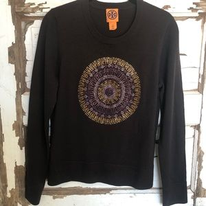 Tori Burch Swarovski sunburst sweater